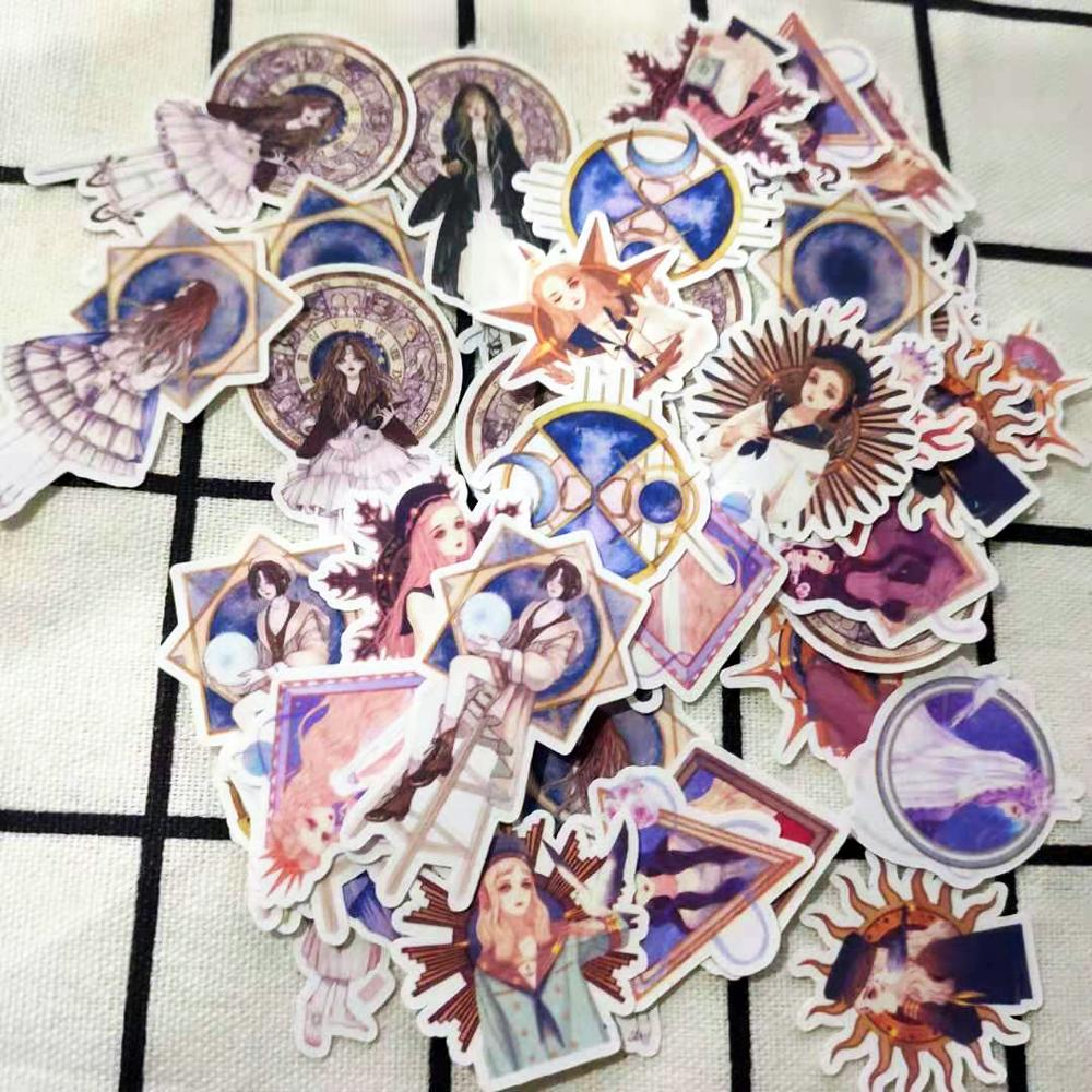 35 PCS\SET Tarot Retro Girl Japanese Comic Characters Rose Goddess Magic School DIY Diary Scrapbooking Label Stickers Stationery