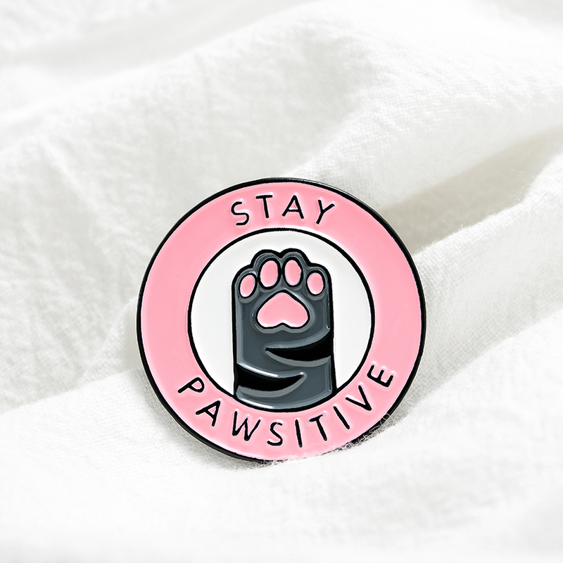 Adorable Family Members Enamel Pins Paw Dog Cat Chicken Pet Animal Jewelry Round Custom Brooches Lapel Pin For Friends Gift 3