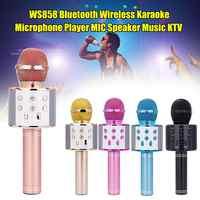 Drahtlose Professionelle Bluetooth Mikrofon Lautsprecher Handheld Mikrofon Karaoke Mic Musik Player Singen Recorder KTV Mikrofon