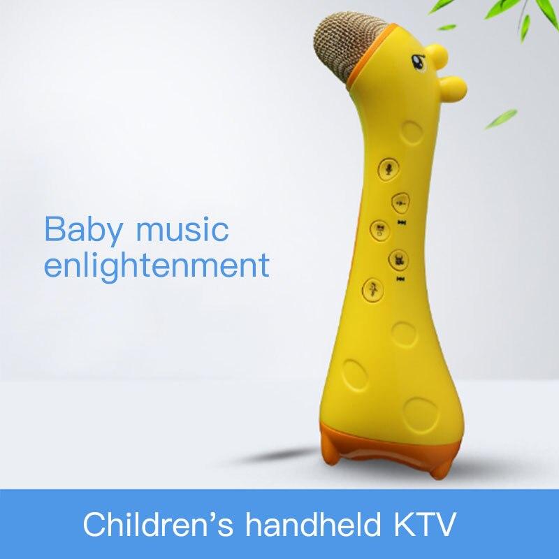 Forme animale enfants Microphone jouet maison et KTV chant Bluetooth Microphone sans fil mignon enfants cadeau jouets