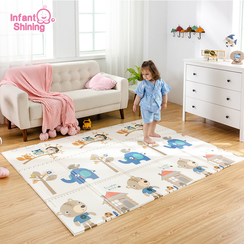 Baby Mat Game-Blanket Play-Mat Foam-Pad Foldable 150x200x1cm Infant Shining XPE Parlor