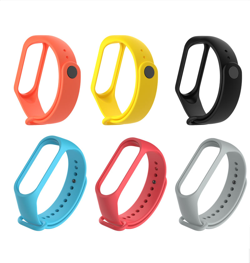 For M3 M4 Band Smart Bracelet Pedometers Replacement Wristband Watch Strap Watchband For Xiaomi Mi 3 4 Mi3 Smart Bracelet