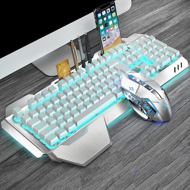 Durable Keyboard Mouse Combos Classic Delicate K680 2.4G Wireless Rechargeable 26 Keys Non-Conflict Keyboard 6 Button Mouse Set