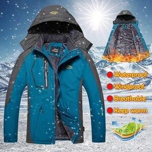 Image 5 - Detachable Hooded Coat Men Thick Warm Jackets Mens Winter Jacket Windproof Overcoat Male Outdoor Windbreaker Parkas Plus 5XL
