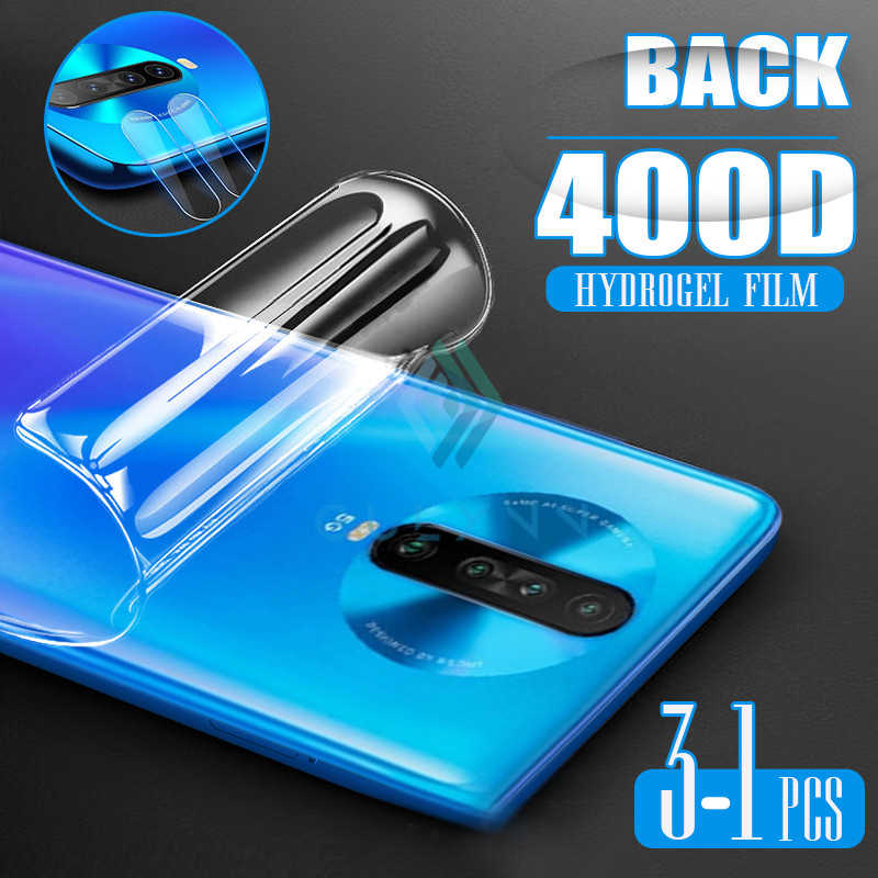 2 In 1 400D Camera Tempered Glass For Xiaomi Redmi Note 4 4X 5 6 7 8T 8Pro 9 9Pro Soft Hydrogel Film  Screen Protector For Note9
