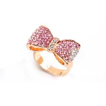 New 2019 trend simple alloy rhinestone female ring personality exaggerated star gift butterfly adjustable female ring jewelry(China)