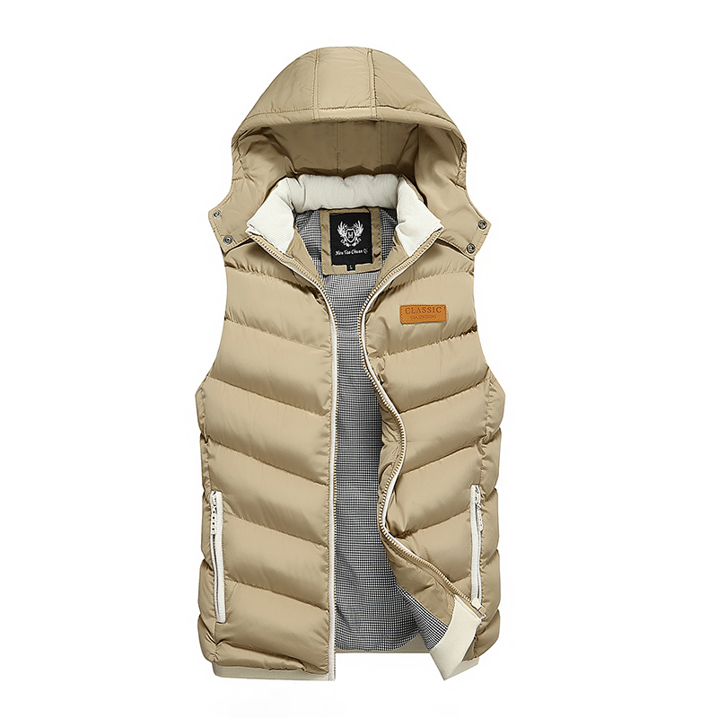 H87a00c546c654b7f8340368e1de728b3R Men White Duck Down Vest Ultralight Sleeveless Jacket Stand Collar Loose 2019 New Autumn Winter Warm Sleeveless Jacket Waistcoat