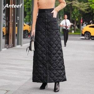 Image 1 - สีดำผ้าฝ้ายพลัสขนาดVintage 2020 สูงเอวเสื้อผ้าฤดูใบไม้ร่วงฤดูหนาวCasual Maxiยาวกระโปรงผู้หญิงกระโปรงผู้หญิงStreetwear