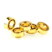 6pcs R188KK UR188 Gold Plated Bearing For Fidget Spinner Yoyos Fan