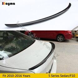 Wydajność styl z włókna węglowego tylny bagażnik spojler do bmw serii 5 F10 520i 528i 535i 2010-2016 rok P stylizacji spoiler samochodu skrzydła