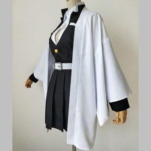 Image 2 - Anime Demone Cosplay Costume Kimetsu No Yaiba Kanroji Mitsuri Kimono Cappotto Del Vestito Delle Donne Uniforme Su Ordine