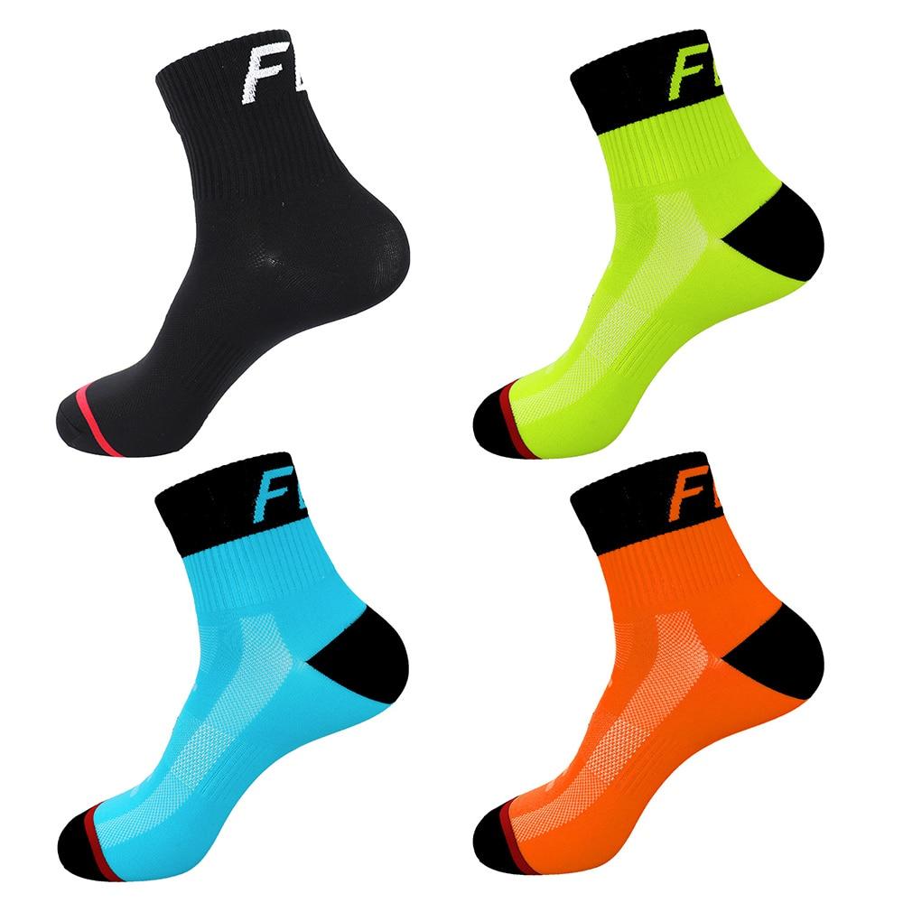 24 Color Fashion Cycling Socks Brand Bicycle Socks Men Women Professional Breathable Sports Socks Basketball Socks