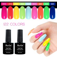 MorCat Gel Nail Polish Fluorescent Color Neon Lacquer Art Design UV Soak Off Candy 10ml