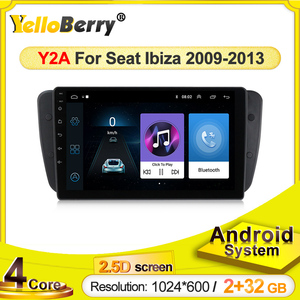 Android Car DVD Radio For Seat Ibiza 6j 2009 2010 2012 2013 GPS Navigation 2 Din Screen radio Audio Multimedia Player