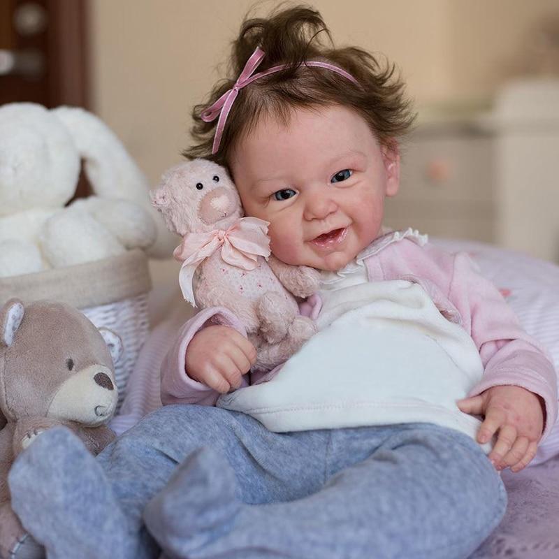 Rbg kit renascer bebê kit de vinil 21 polegadas phoenix unpainted inacabado peças boneca diy em branco reborn kit de boneca de vinil