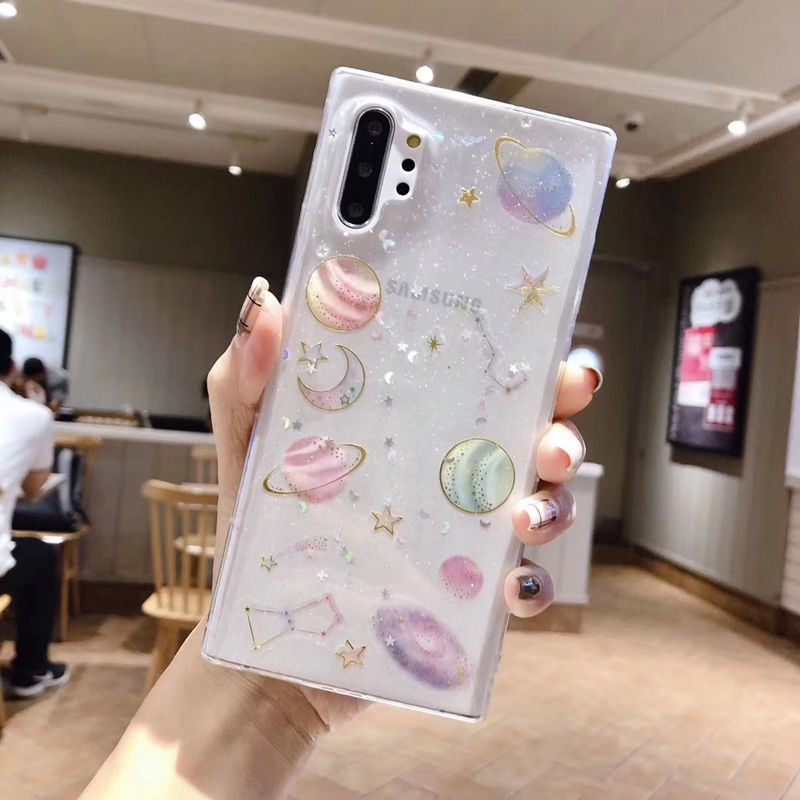 Bling Glitter Space Star Soft Case Cover For Samsung Galaxy S10 S10E S20 Note 8 9 10 A6 Plus J6 J8 A20 A30 A40 A50 A60 A70 M30