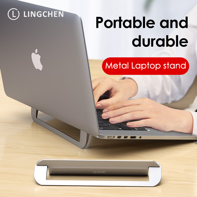 LINGCHEN Laptop Stand for MacBook Air Pro Foldable Desktop Notebook Stand Holder Portable Aluminum Laptop Holder For Xiaomi Air