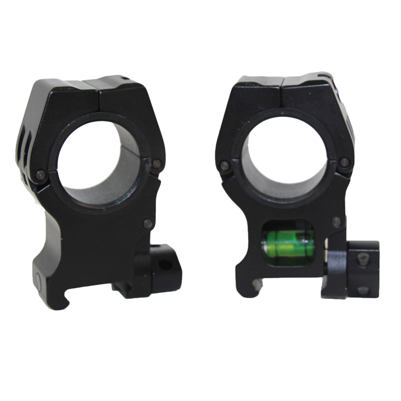 25.4mm / 30mm Rifle Scope Mount Bracket Airsoft Combat Hunting Instrument 20mm Picatinny Rail Mount Straight Sight Double Ring