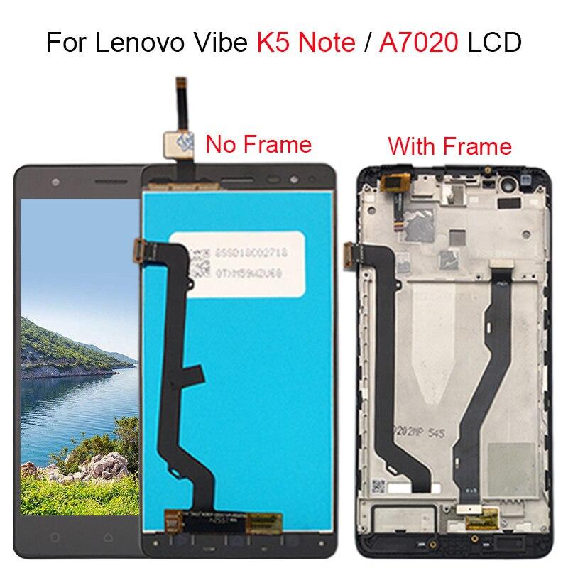 5,5 LCD для Lenovo Vibe K5 Note дисплей сенсорный экран с рамкой для Lenovo K5 Note дисплей A7020 LCD Замена