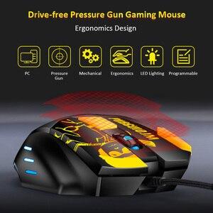 Image 4 - ماوس الألعاب الميكانيكية 8 أزرار قابلة للبرمجة 4800 ديسيبل متوحد الخواص ماوس ساحة المعركة ألعاب فأرة للكمبيوتر