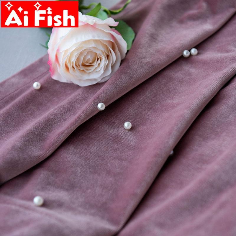 Solid Luxury Beaded Silk Velvet Blackout Windows Curtain For Living Room White Pearl Mesh Fabrics Sheer Bedroom Tulle MY148-50