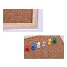 30x40 см пробковая доска для рисования сосновая рама белые доски для дома или офиса, декоративные AXYF