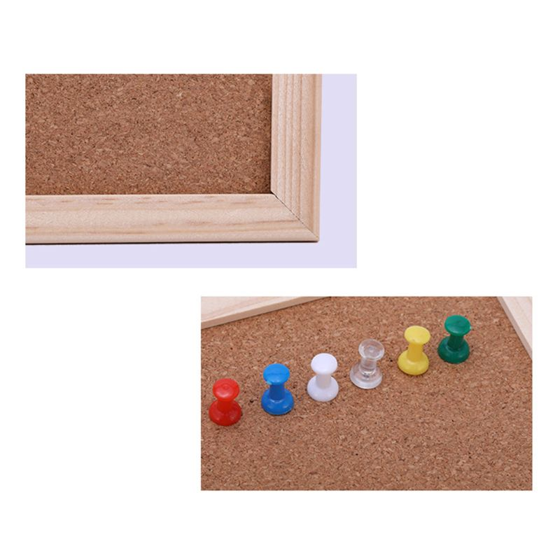 30x40cm Cork Board Drawing Board Pine Wood Frame White Boards Home Office Decorative AXYF