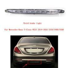 Third Brake Light LED 3Rd Stop Lamp Rear Tail Light A2229060048 for Mercedes-Benz S-Class W222 2014-2016 S320/S400/S500 1pcs car rear strip tail third 3rd stop brake turn signal light for mercedes benz e class w211 03 09