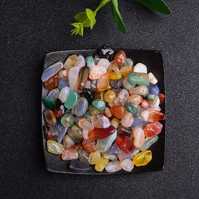 50/100g Natural Crystal Amethyst Agate Irregular Mineral Healing Stone Gravel Specimen Suitable For Aquarium Home Decor Crafts