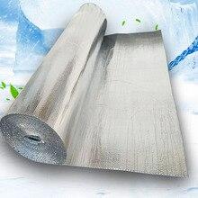Selbst adhesive Aluminium Folie Blase Wärmedämmung Film Doppel Gesicht Isolierung Material für Dach und Sonne Zimmer 3sqm/lot