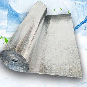Image 1 - Selbst adhesive Aluminium Folie Blase Wärmedämmung Film Doppel Gesicht Isolierung Material für Dach und Sonne Zimmer 3sqm/lot