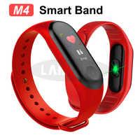 Nuevo M4 pulsera inteligente pulsera salud ritmo cardíaco Monitor de presión arterial rastreador de Fitness brazalete deportivo con Bluetooth para adultos