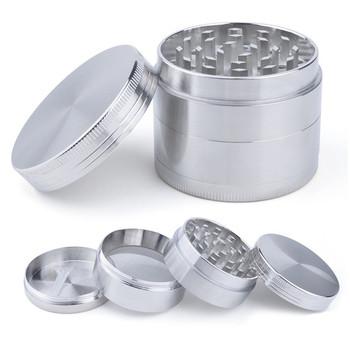 4 warstwy młynek do tytoniu młynek do ziół z uchwytem młyna kolor srebrny młynek do dymu metalowe gadżety kuchenne tanie i dobre opinie CN (pochodzenie) Prosta mini 38-40mm