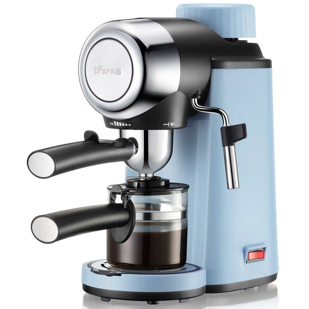220V Bear Coffee Machine Can Make Mlk bubble High Pressure Extraction Semi Automatic Home Office Coffee Machine