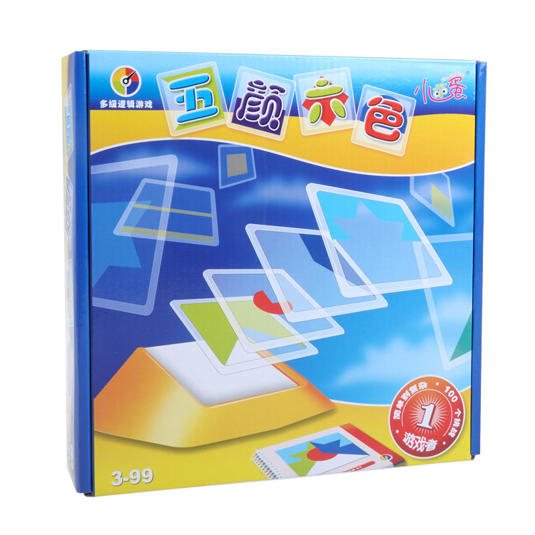 Image 3 - Puzzle Games 100 Challenge Color Code Tangram Jigsaw Board Puzzle Toy Children Kids Develop Logic Spatial Reasoning Skills ToyPuzzles   -