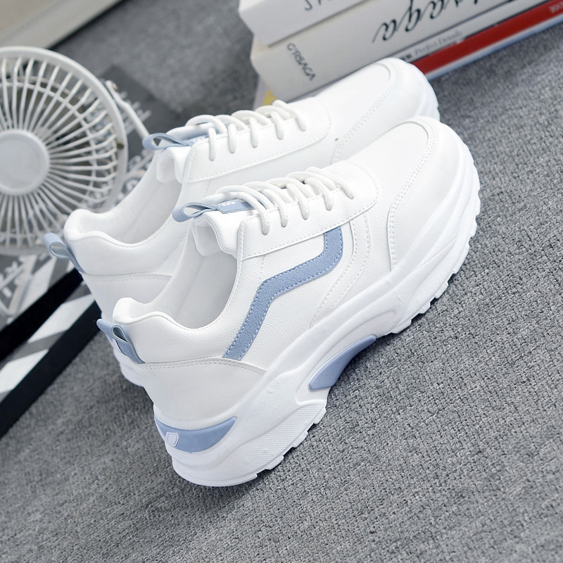Women's High Platform Sneakers 2020 Fashion Women White Dad Shoes Ladies Casual Chunky Footwear Women Chaussures Femme