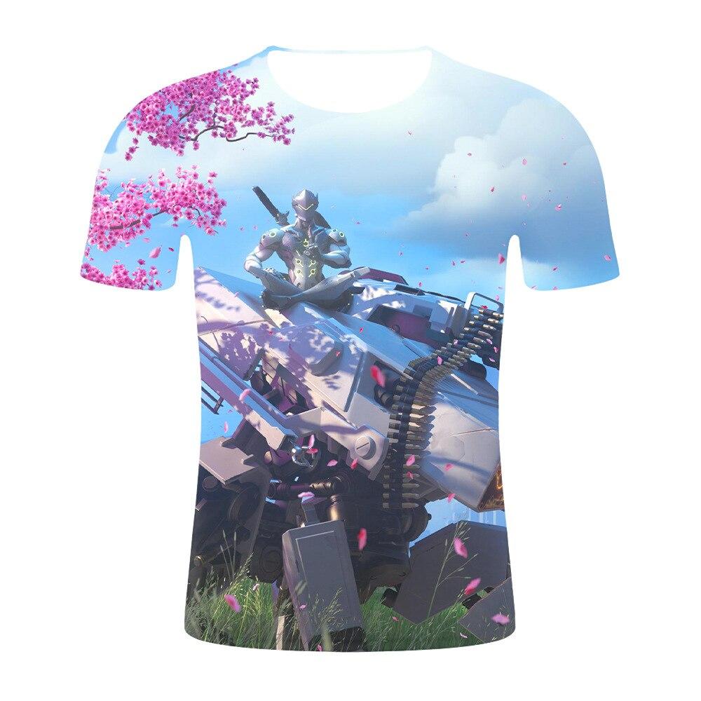 "Digital print short sleeve 3DT shirt, the latest ""Overwatch"" cosplay round neck short sleeve shirt fashion casual T-shirt"