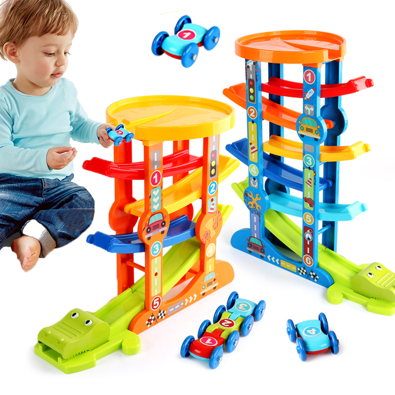 Magic Racing Car Ramp Race Railway Track Inertia Gliders Car Diecast Slide Toy Toddler Motor Skill Educational For Children Gift