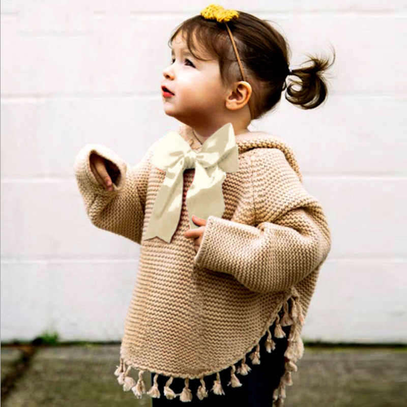 LILIGIRL 秋ニットセーターのための女の子カーディガン漫画タッセル新生児かわいい冬のアウター幼児ニット