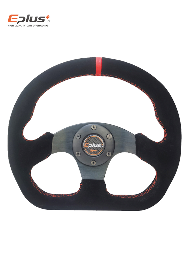 Steering-Wheel Racing-Type EPLUS Sport Aluminum PVC Universal for Omp-Style 13-Inches325mm