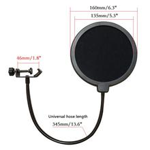 Durable Double Layer Windscreen Studio Microphone Flexible Wind Screen Mask Mic  Filter Bilayer Shield for Speaking Recording