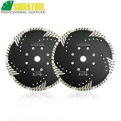 """SHDIATOOL 2 sztuk 9 """"/230mm diamentowe ostrza tarcza tnąca spiekane ostrze Turbo z ochrony zębów skos betonu kamienia koła diamond blades for stone diamond bladeturbo diamond blade -"""