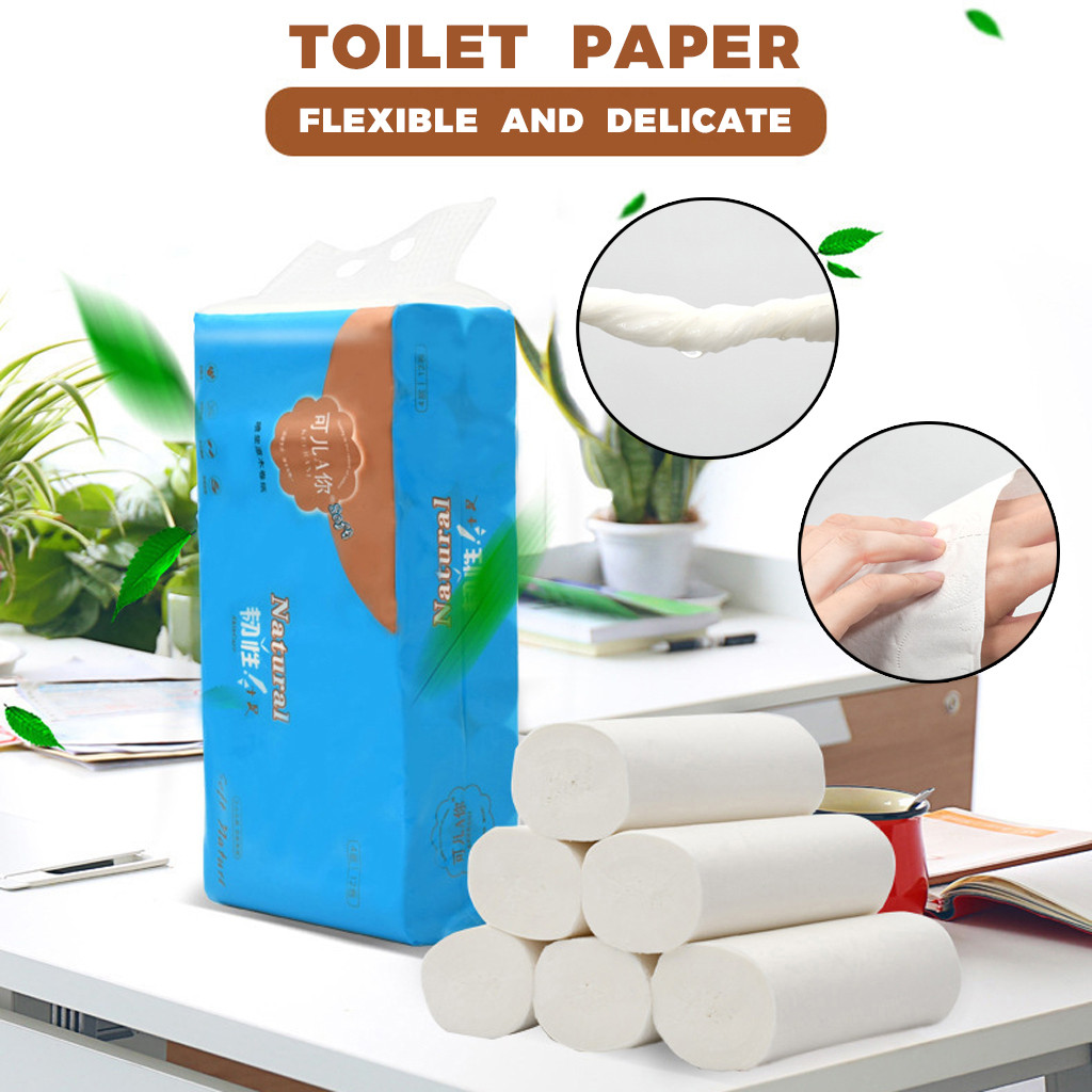 Soft Tissue Paper Fast Shipping Solid Rolled Toilet Paper Kitchen Paper Suitable For Home & Restaurant Cafes Dropshipping ##4
