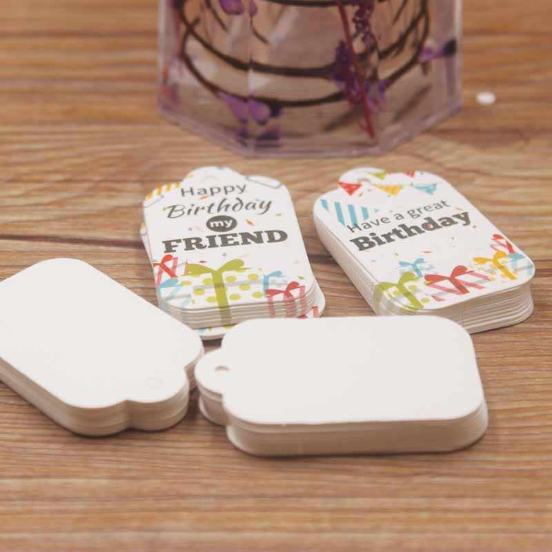 5*3cm DIY new wish you all the best gifts etiqueta colgante de color blanco festoneado regalos de cumpleaños etiqueta colgante de boda/dulces favores etiqueta 200 Uds