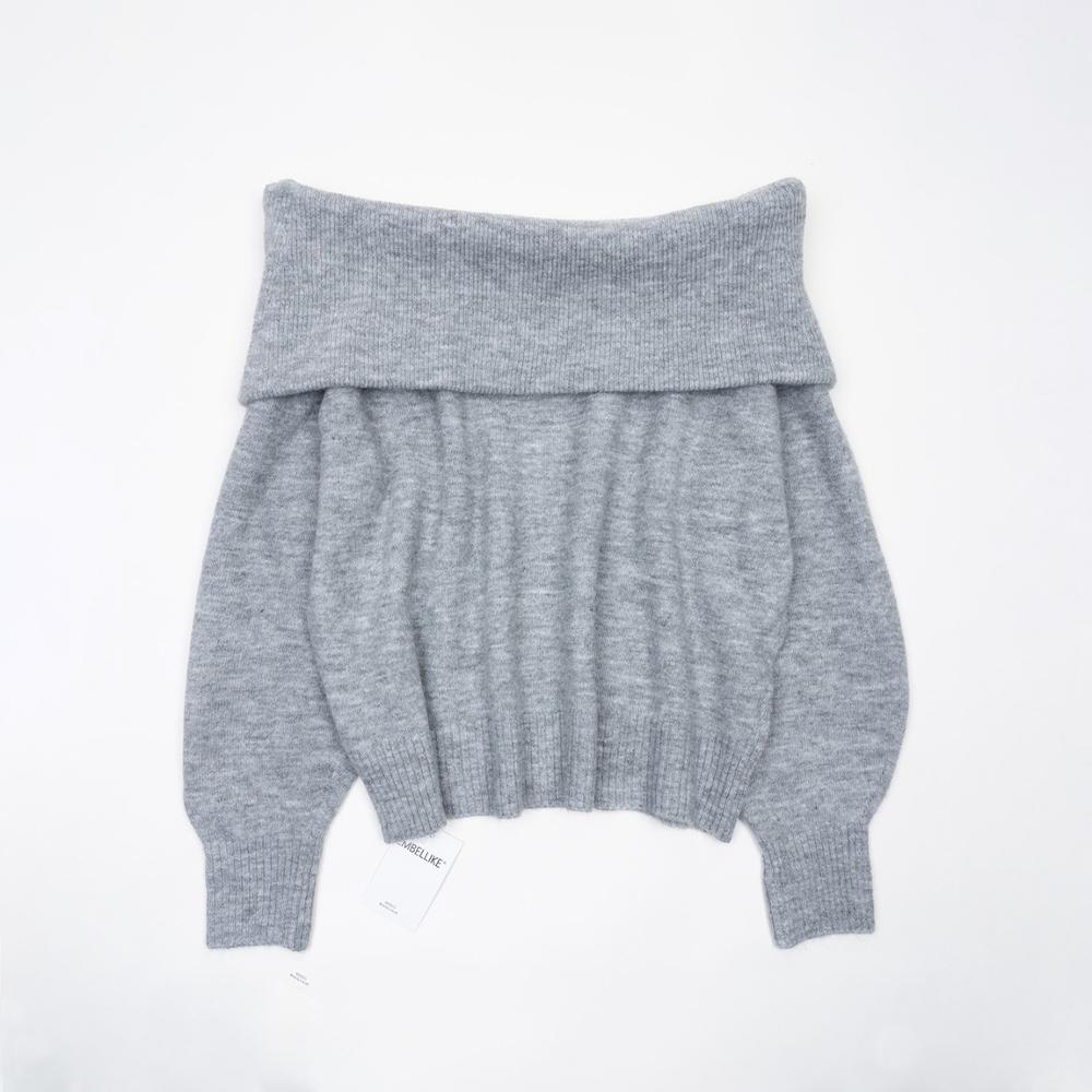 Cute Fluffy Off Shoulder Sweater Women Fashion Knitted Sweaters Jumpers