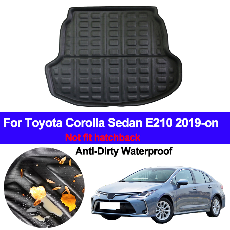 Car Rear Trunk Luggage Mat Cargo Tray Boot Liner For Toyota Corolla Sedan E210 2019 2020 Auto Carpet Protector Floor Anti-dirty