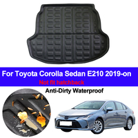 Car Rear Trunk Luggage Mat Cargo Tray Boot Liner For Toyota Corolla Sedan E210 2019 2020 Auto Carpet Protector Floor Anti dirty