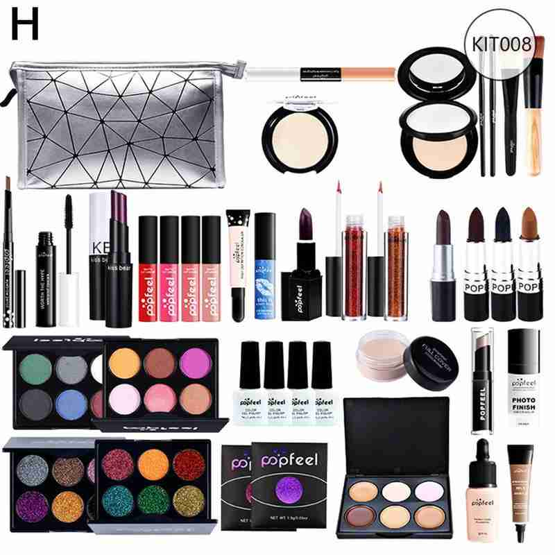 POPFEEL All In One Full Professional Makeup Kit Tools For Beginner Girl Multiple Sets Hot Selling