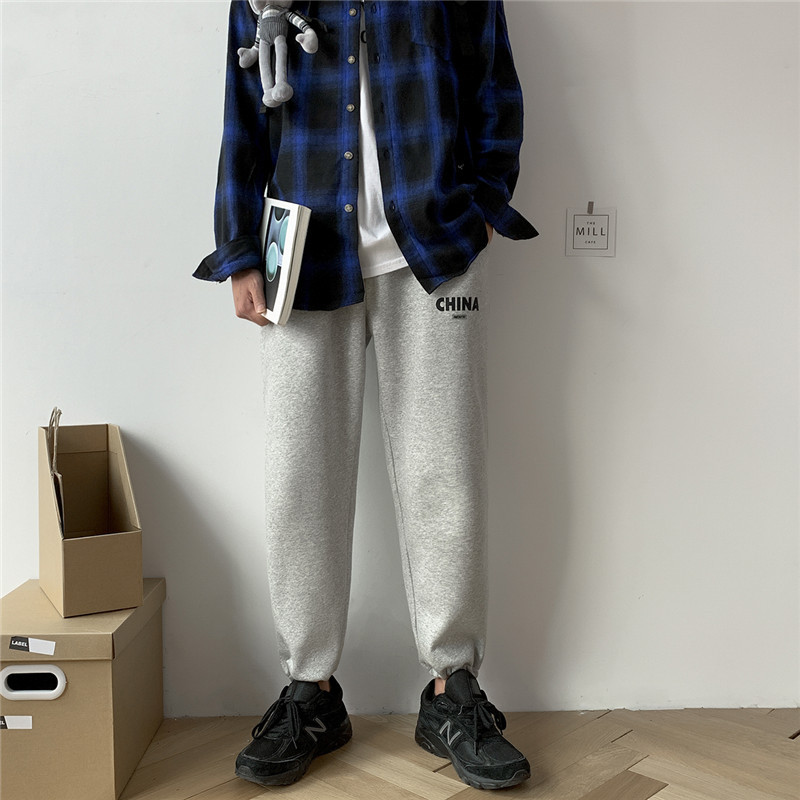 2019 Autumn New Japanese Loose Trend Casual Sweatpants Lovers Wild Letter Printing Pants