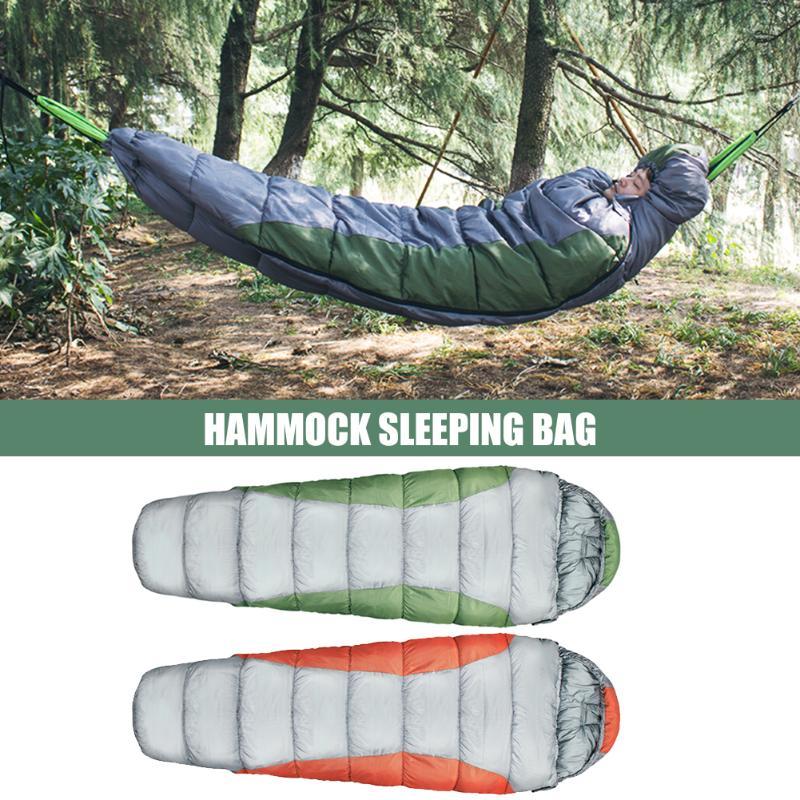 Outdoor Hammock Sleeping Bag Winter Warm Portable Hammock Underquilt Blanket Tent For Camping
